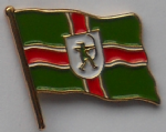 Nottinghamshire County Flag Enamel Pin Badge